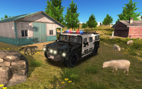 Police Car Driving Offroad - Скриншот 3
